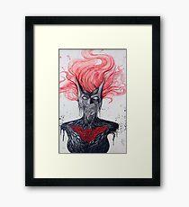 Batwoman Skull Framed Print