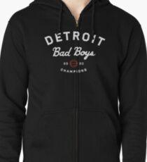 Detroit Bad Boys Zipped Hoodie