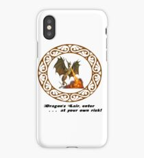 Dragon's Lair, enter at your own risk! iPhone Case