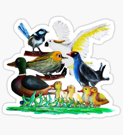 Birds of a Feather Sticker