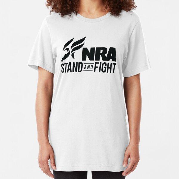 NRA 9mm Guns Logo Slim Fit T-Shirt