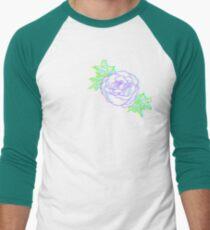 3D Rose Men's Baseball ¾ T-Shirt