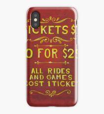 Amusement - Tickets 3 Dollars iPhone Case/Skin