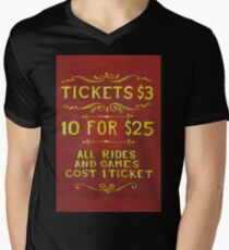 Amusement - Tickets 3 Dollars Men's V-Neck T-Shirt