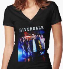 RIVERDALE Women's Fitted V-Neck T-Shirt