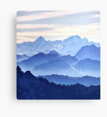 Fractal Scapes - Misty Mountains Canvas Print