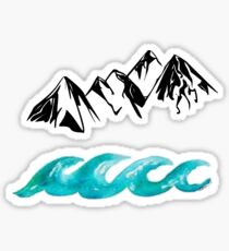 Mountains and Waves Sticker