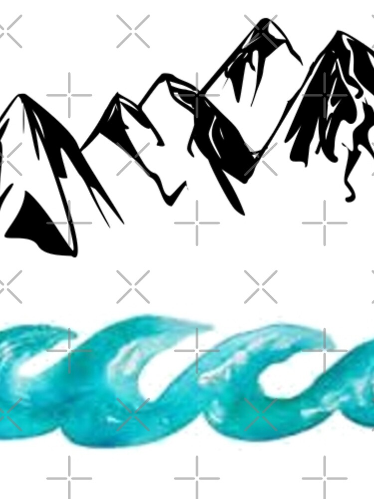 Montañas y olas de amariei