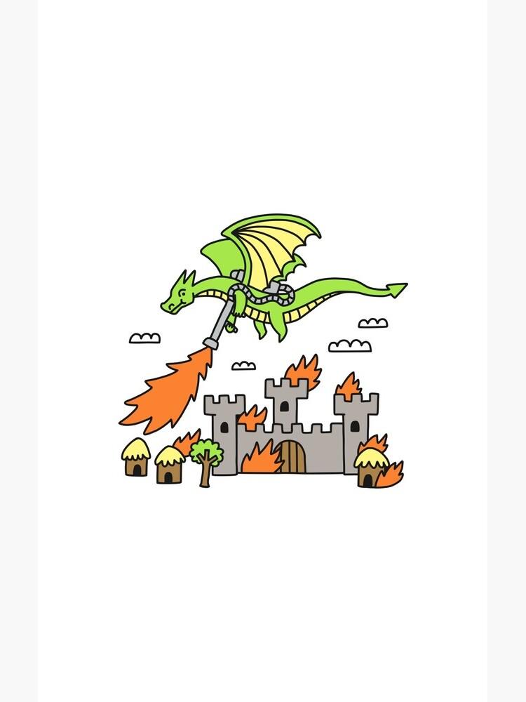 Dragon With A Flamethrower by obinsun