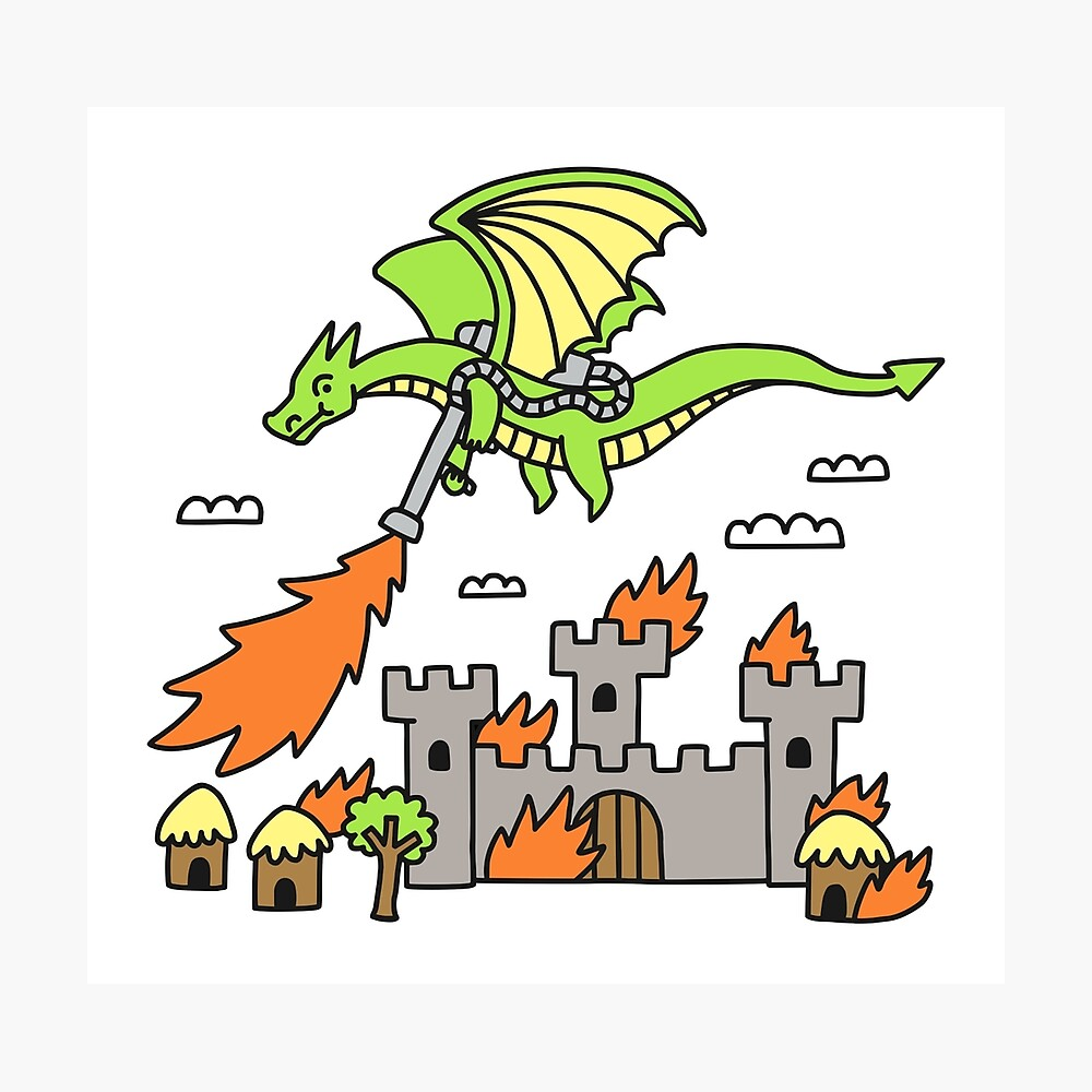 Dragon With A Flamethrower Photographic Print