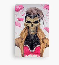 Gambit Skull Canvas Print