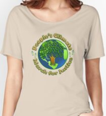 People's Climate Change March on Washington Justice 2017 Women's Relaxed Fit T-Shirt