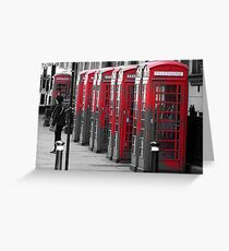 The Phonebooths Greeting Card