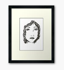 Ink woman Framed Print
