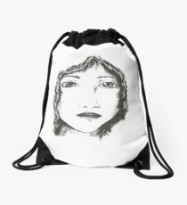 Ink woman Drawstring Bag