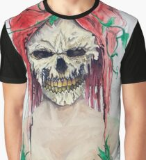Poison Ivy Skull Graphic T-Shirt