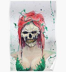 Poison Ivy Skull Poster