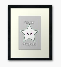 Space Princess Kawaii Star Framed Print
