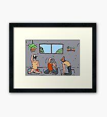 Asanas de yoga  Framed Print