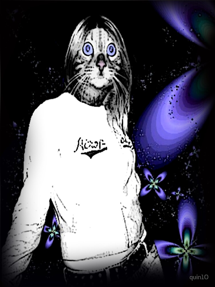 Photoshopped Cat Person by quin10