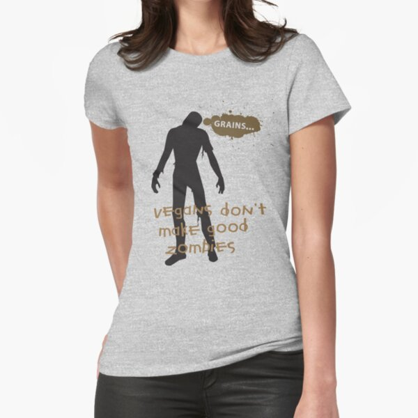 Vegan Zombies Fitted T-Shirt