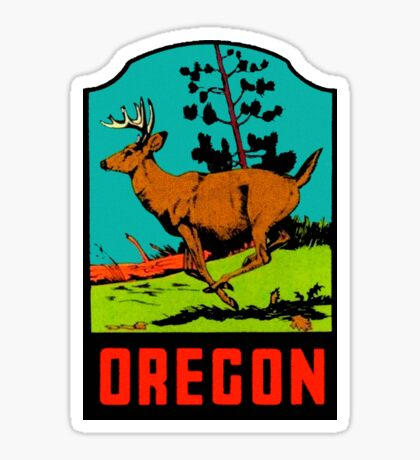 Oregon OR State Vintage Travel Decal Sticker