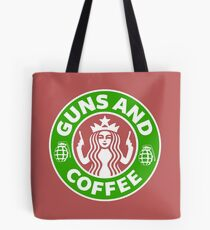 Guns & Coffee Tote Bag