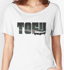 TOFU delivery - black Women's Relaxed Fit T-Shirt