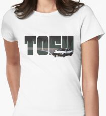 TOFU delivery - black Womens Fitted T-Shirt