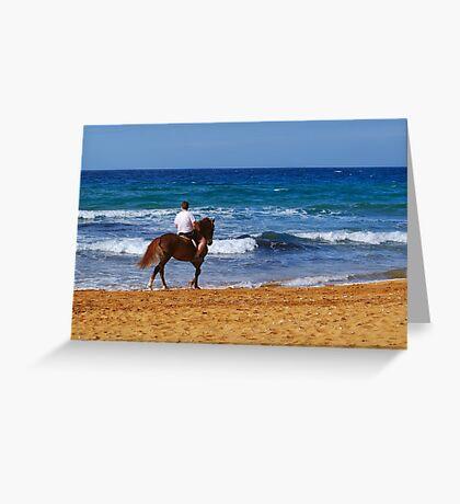 Beach Ride Greeting Card