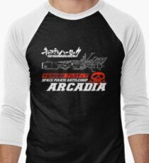 ALBATOR CAPTAIN HARLOCK SPACE PIRATE BATTLESHIP ARCADIA  Men's Baseball ¾ T-Shirt