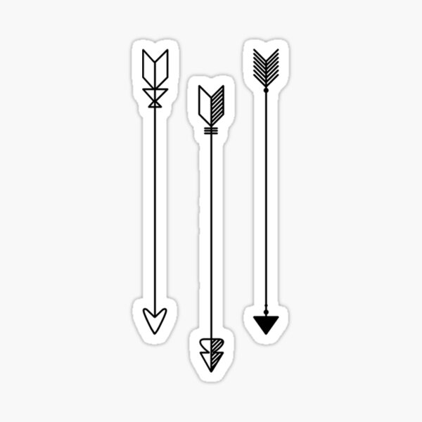 Trio of Arrows Sticker