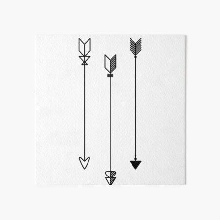 Trio of Arrows Art Board Print