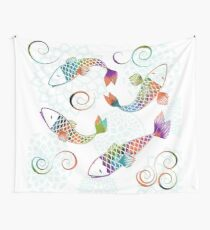 Peaceful Kois Wall Tapestry