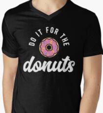 Tun Sie es für die Donuts T-Shirt mit V-Ausschnitt