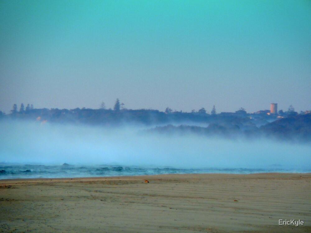 HEAVY FOG OVER THE OCEAN AFTER SUNRISE by EricKyle
