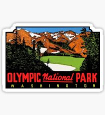 Olympic National Park Washington Vintage Travel Decal Sticker