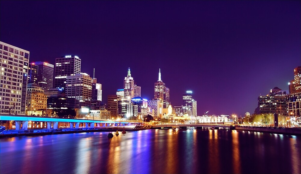 Melbourne on the Yarra by Grant McCall