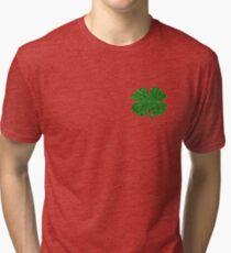 Glitter Green Shamrock Tri-blend T-Shirt