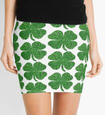 Glitter Green Shamrock Mini Skirt