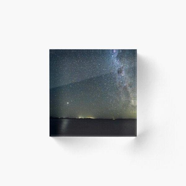 Stars over Eppalock Acrylic Block