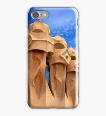Sentinels of Gaudi on la Pedrera iPhone Case/Skin