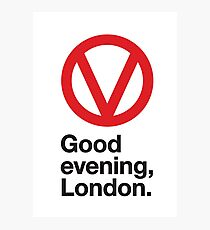 Good evening, London Photographic Print