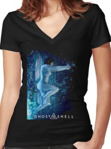 The Hybird Cyborg Women's Fitted V-Neck T-Shirt