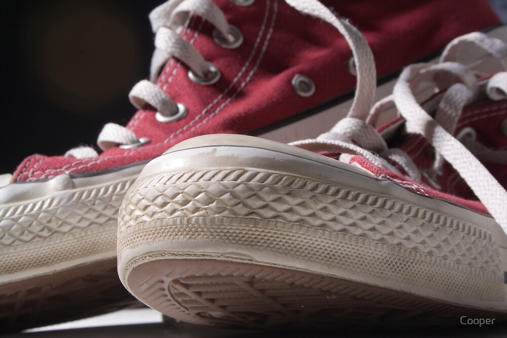 Red sneakers by Cooper