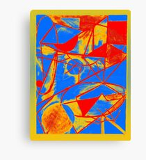 Abstract Primary Colors Canvas Print
