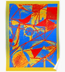 Abstract Primary Colors Poster