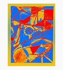 Abstract Primary Colors Photographic Print