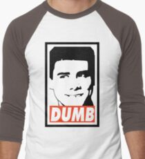 DUMB Men's Baseball ¾ T-Shirt