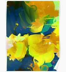 Summer #Abstract #Flowers Poster